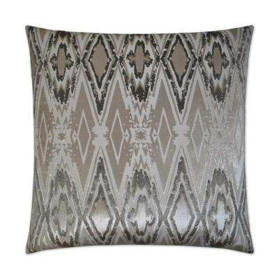 Maximus Platinum Feather Down 24 in. x 24 in. Standard Decorative Throw Pillow