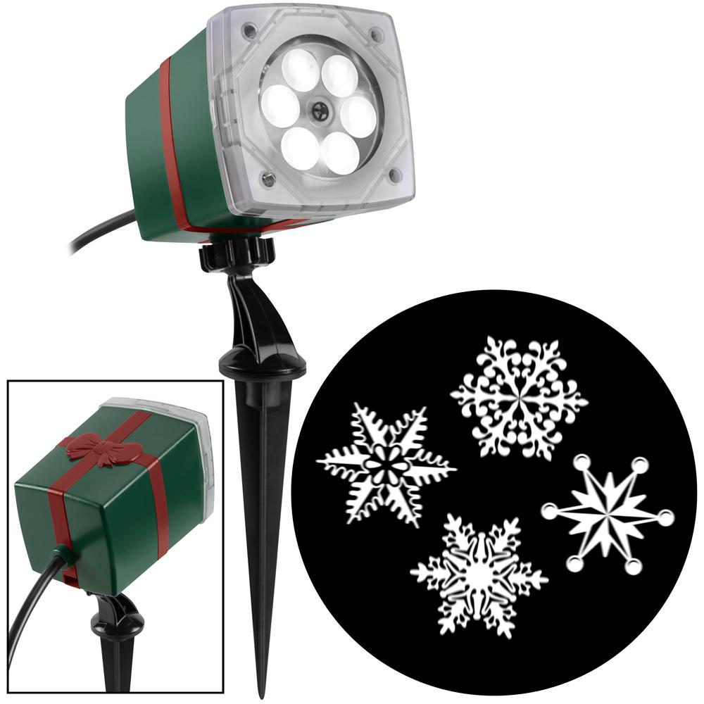 LightShow White Christmas LightShow Projection Whirl-A-Motion-Ornate Snowflake