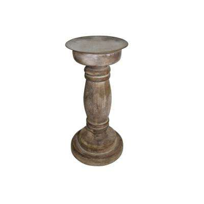 10 in. Wood Small Anna Candle Holder