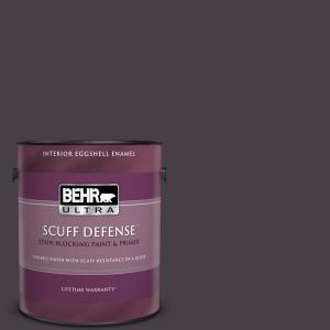 Behr Ultra 1 Gal Ppu17 20 Eclectic Purple Extra Durable Eggshell Enamel Interior Paint Primer 275301 The Home Depot