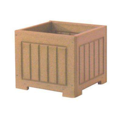 Catalina 12 in. x 12 in. Cedar Recycled Plastic Commercial Grade Planter Box