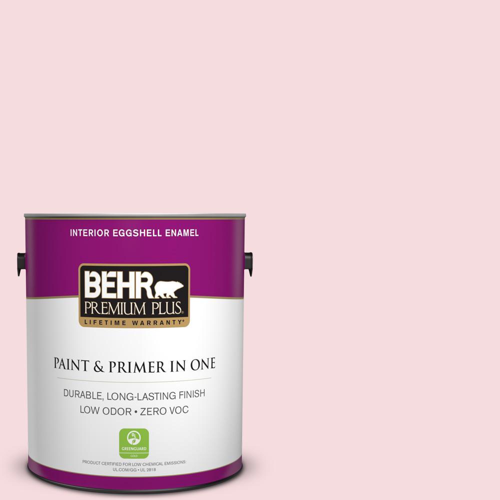 BEHR Premium Plus 1-gal. #120A-2 Delicate Rose Zero VOC Eggshell Enamel Interior Paint