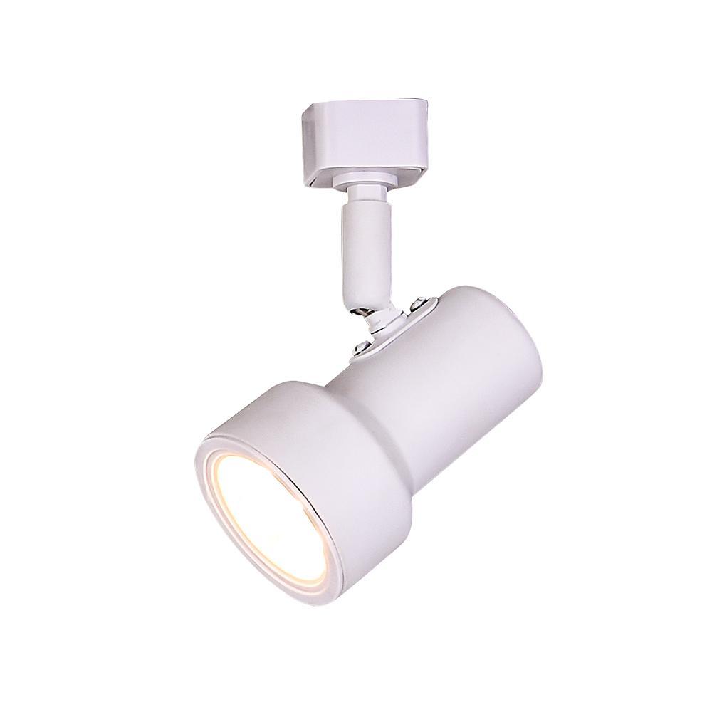 1-Light White Integrated LED Mini-Step Linear Track Lighting Head