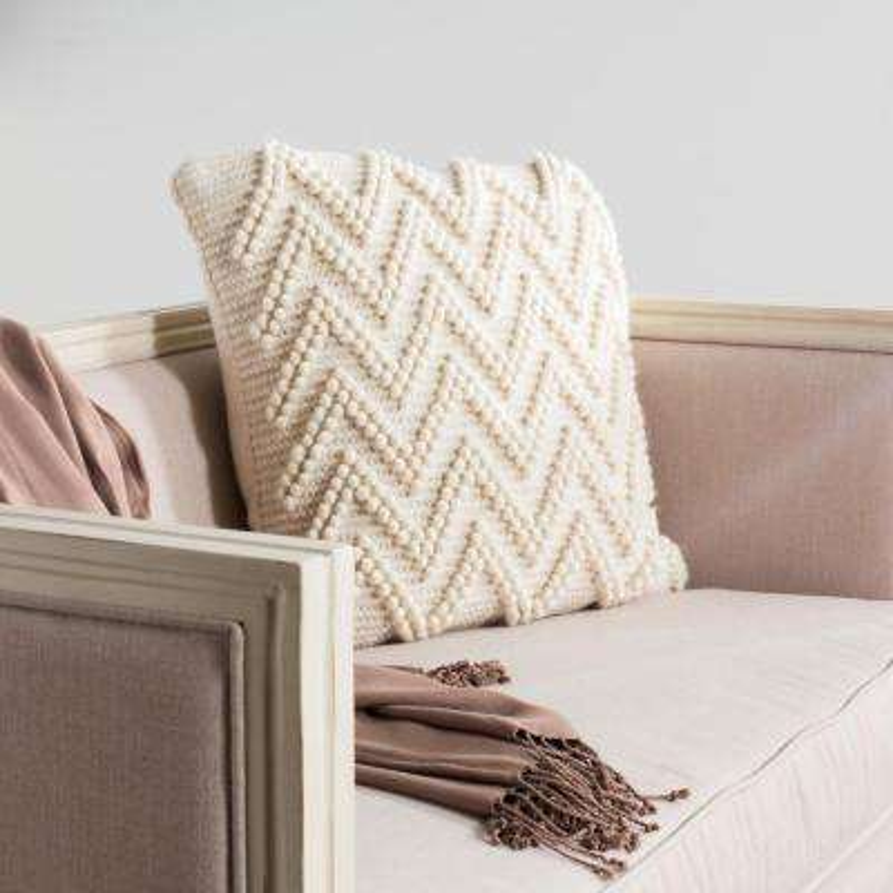 Jumbo Chevron Loop Textures and Weaves Pillow