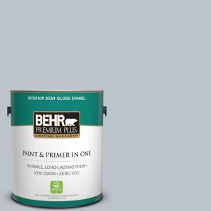 1 gal. #N490-2 Icicles Semi-Gloss Enamel Zero VOC Interior Paint and Primer in One