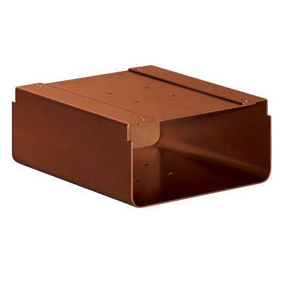 Newspaper Holder for Designer Roadside Mailbox, Copper