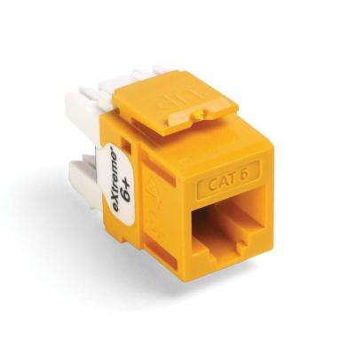 QuickPort Extreme CAT 6 Connector with T568A/B Wiring, Yellow (25-Pack)