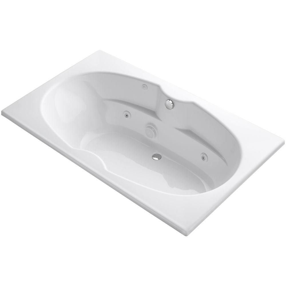 KOHLER ProFlex 6 ft. Whirlpool Tub in White-K-1131-0 - The Home Depot