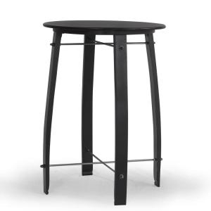 Woodford Antique Black 26 inch Round Barrel Counter Height Pub Bar Table by