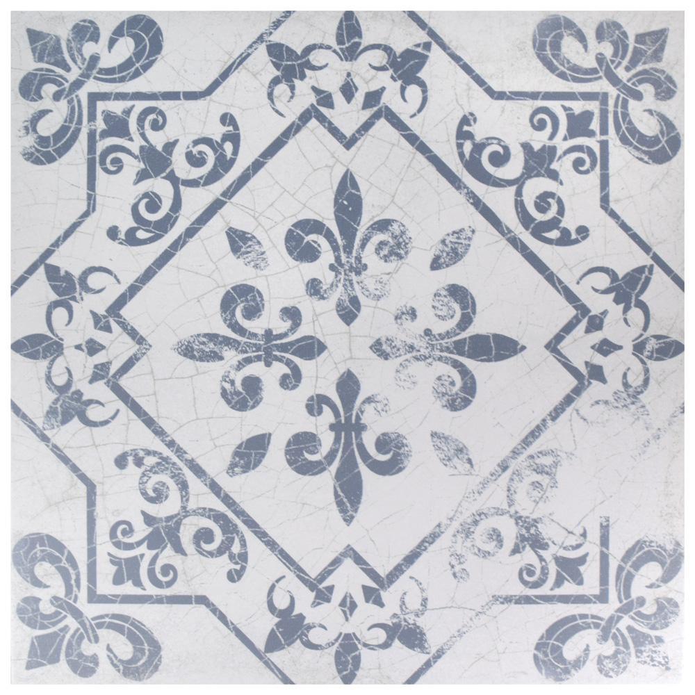 Atlantic Azul Encaustic 17-5/8 in. x 17-5/8 in. Ceramic Floor and Wall Tile (15.53 sq. ft. / case)