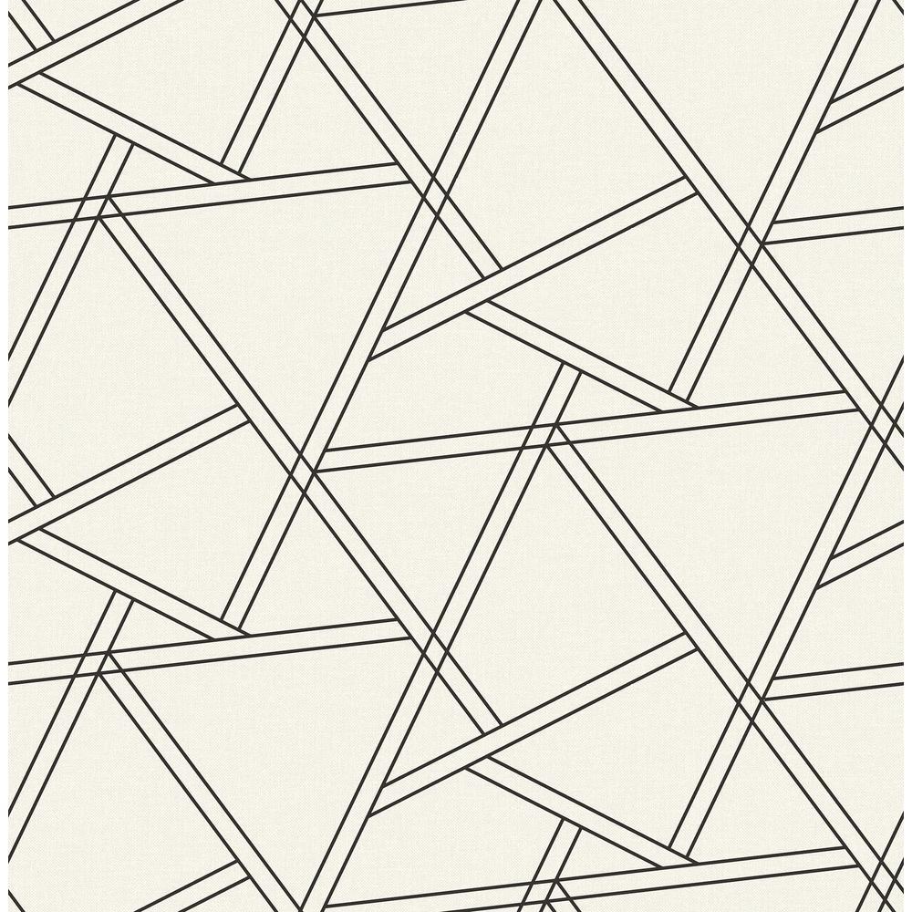 NextWall Railroad Geometric Peel and Stick 18 ft. x 20.5 in. Wallpaper