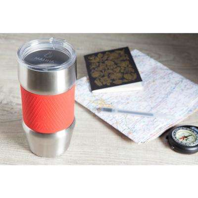Renegade 20 oz. Red Grip Stainless Steel Vacuum Insulated Tumbler