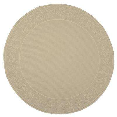 Oak Leaf Round Cafe Polyester Tablecloth