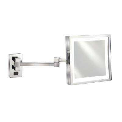 Empire 5x Magnification Wall Mount 8 in. x 8 in. Lighted Makeup Mirror
