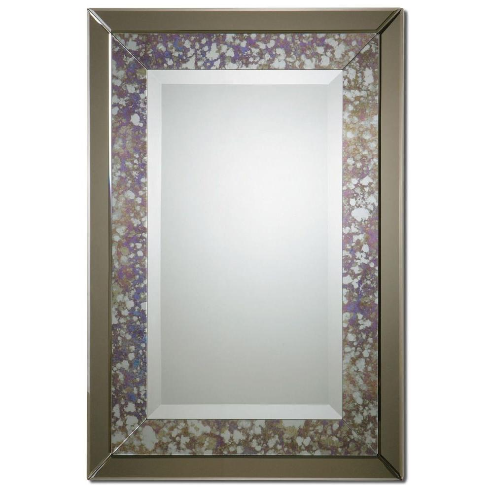 Global Direct 38 in. x 26 in. Antique Silver Framed Mirror-DISCONTINUED