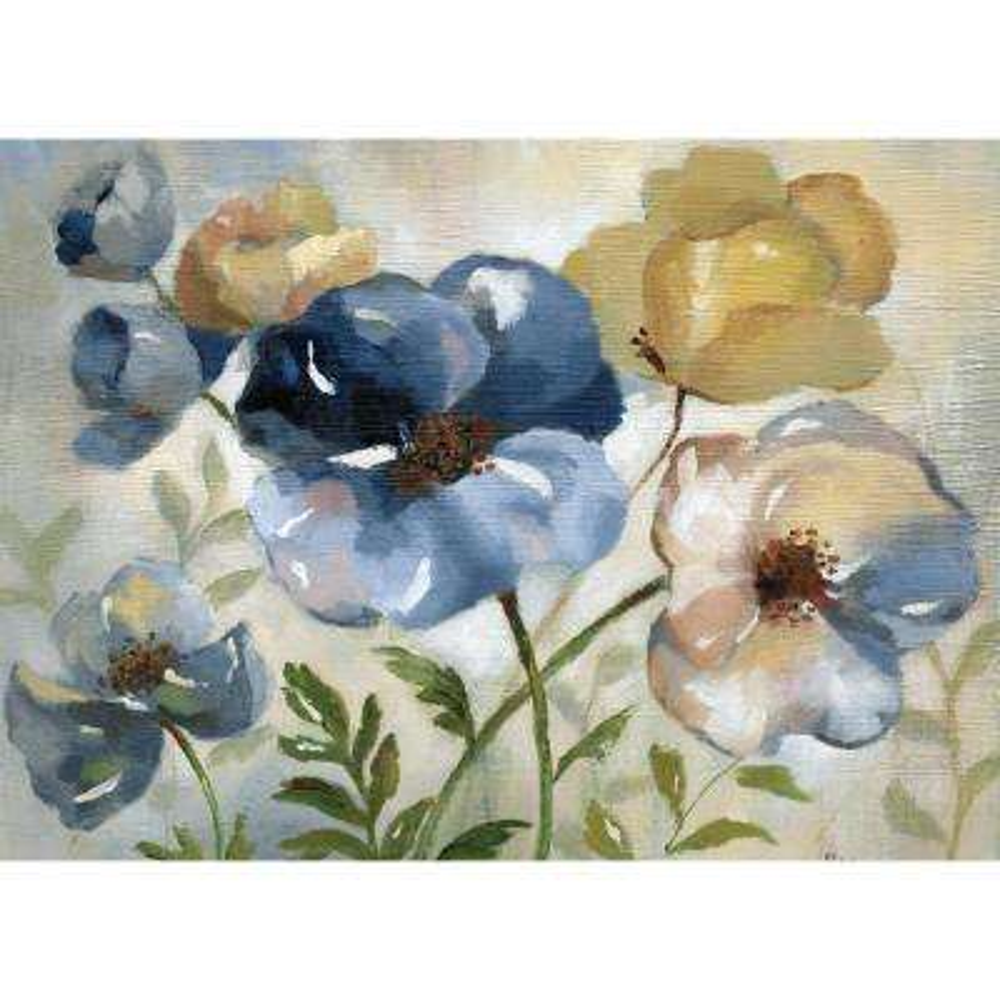 Morgan Home Blue Floral Placemat Set (4-Pack)