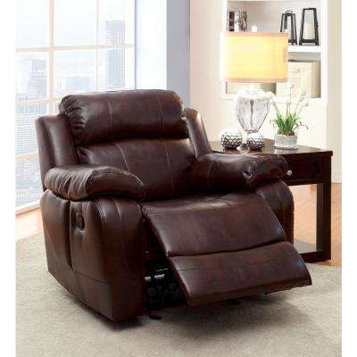Balitore Brown Leatherette Recliner Chair