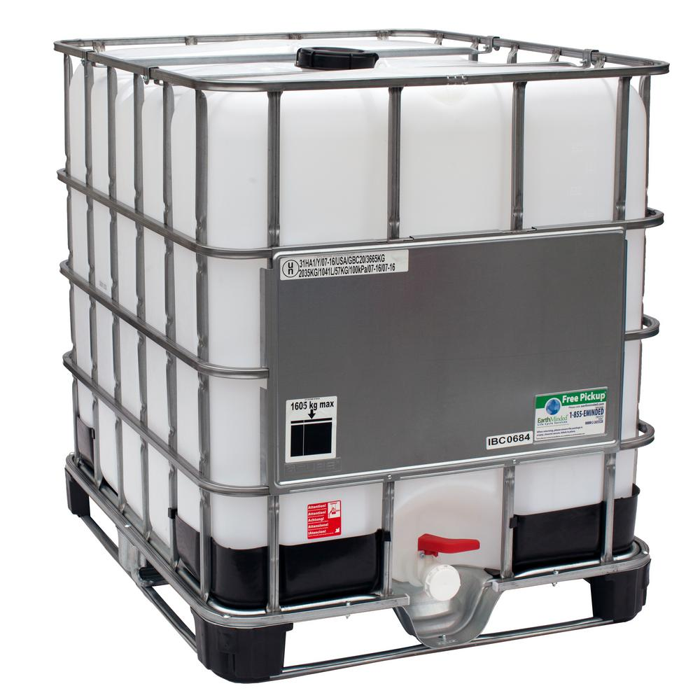 275 Gal. Transportable Storage Tank (IBC) with Cage and Integrated Pallet