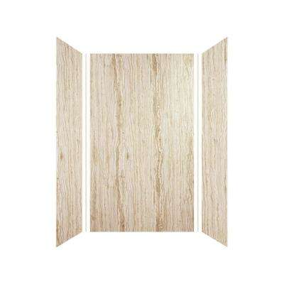 Expressions 36 in. x 42 in. x 72 in. 3-Piece Easy Up Adhesive Alcove Shower Wall Surround in Sorento