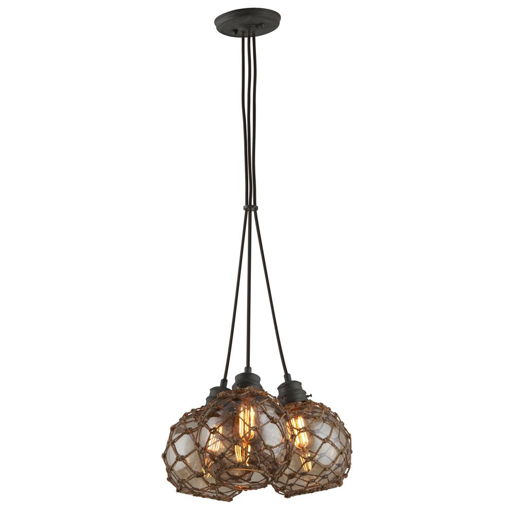 Troy Lighting Outer Banks 3-Light Shipyard Bronze Pendant