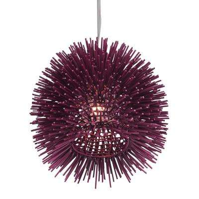 Urchin 1-Light Plum Mini Pendant