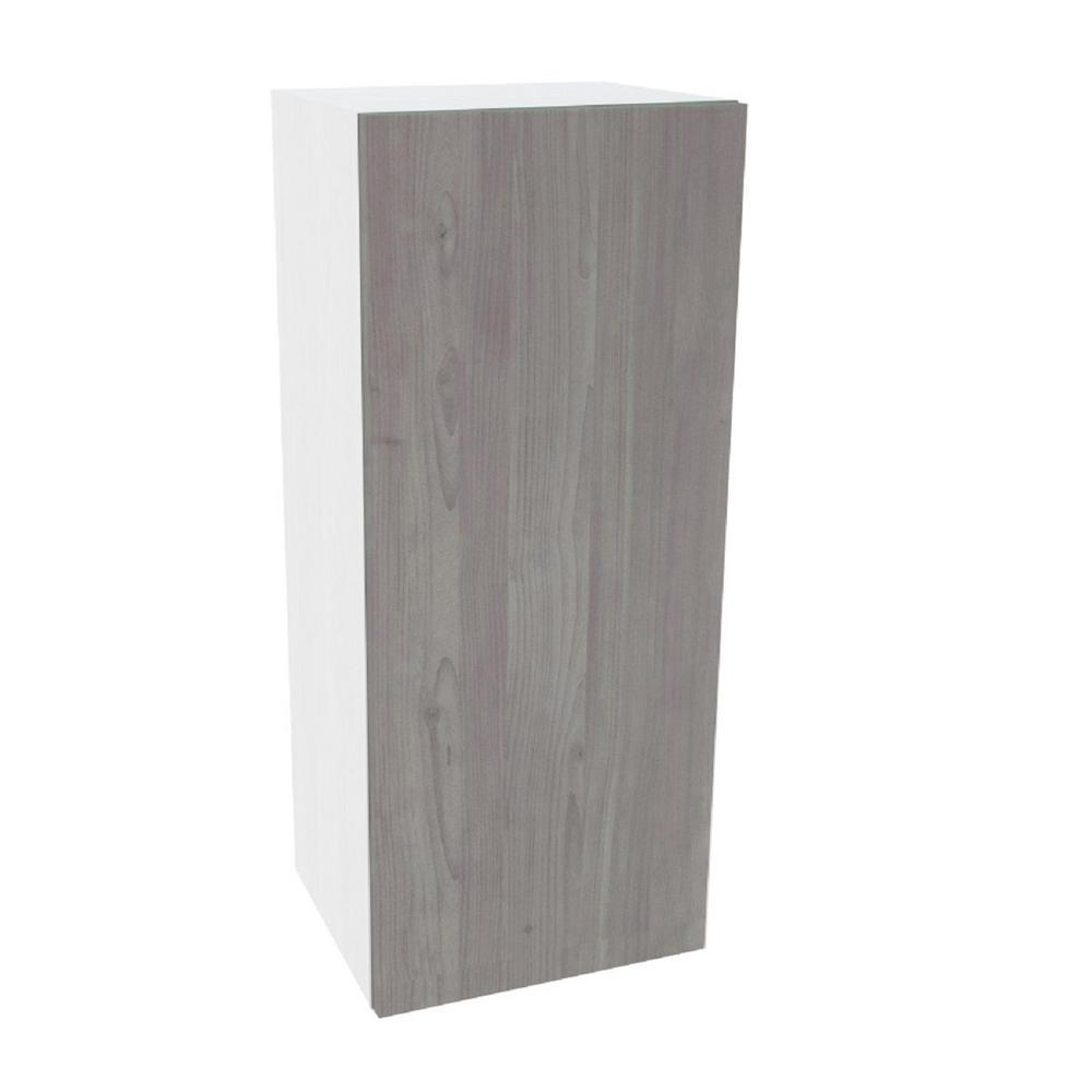 Cambridge Ready to Assemble 15 in. x 36 in. x 12 in. Wall Cabinet in Grey Nordic Wood -  SA-WU1536-GN