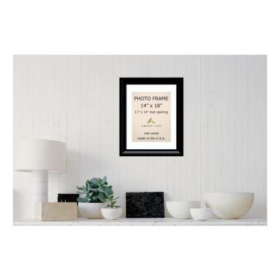 Steinway 11 in. x 14 in. White Matted Black Picture Frame