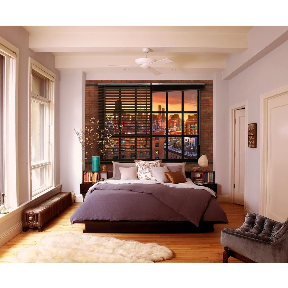 Komar cityscape brooklyn brick wall mural 8 882 the home for Decor mural xxl