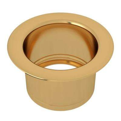 Extended 2-1/2 in. Disposal Flange or Throat for Fireclay Sinks and Shaws Sinks in Italian Brass