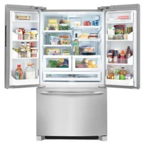 9 frigidaire gallery 276 cu ft non dispenser french door refrigerator in stainless steel - Non Stainless Steel Appliances
