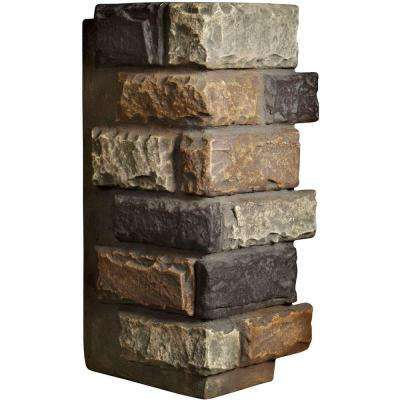 1-1/2 in. x 12-1/2 in. x 25 in. Redstone Urethane Cut Coarse Random Rock Outer Corner Wall Panel