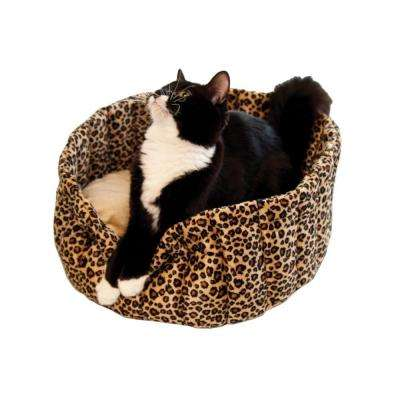 Lazy Cup Small Leopard Cat Bed