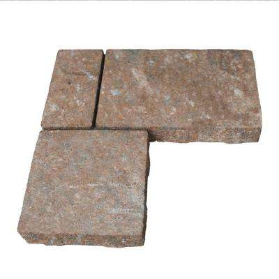 Monaco 15.75 in. x 15.75 in. x 2.25 in. Flash Brown Concrete L-Shaped Paver (80 Pieces / 103 sq. ft. / Pallet)