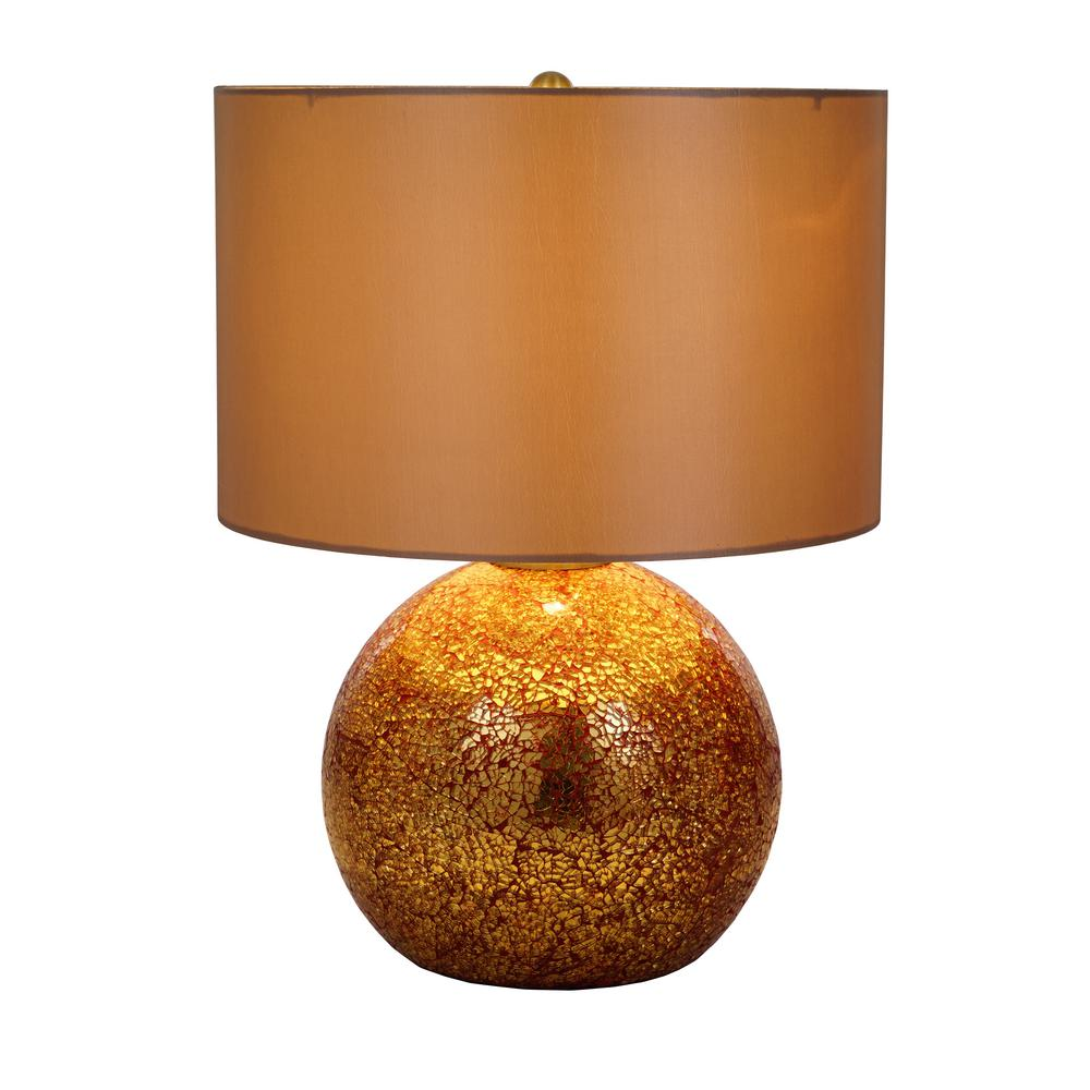 Catalina Lighting 20 5 In Gold And Red Mercury Gl Table Lamp With Shade