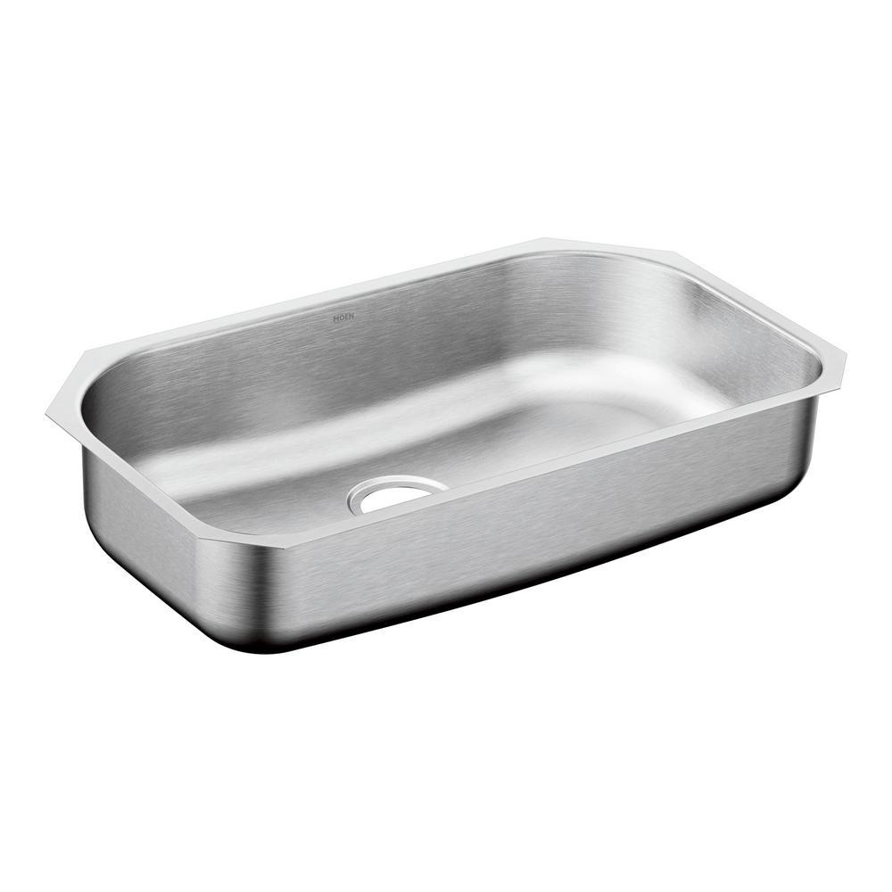 1800 Series Undermount 31 in. Single Bowl Stainless Steel Kitchen Sink