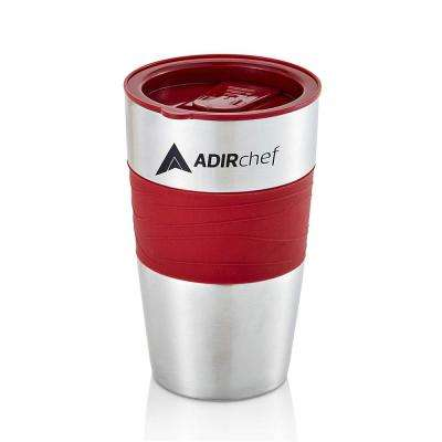 15 oz. Ruby Red Stainless Steel Travel Mug (2-Pack)