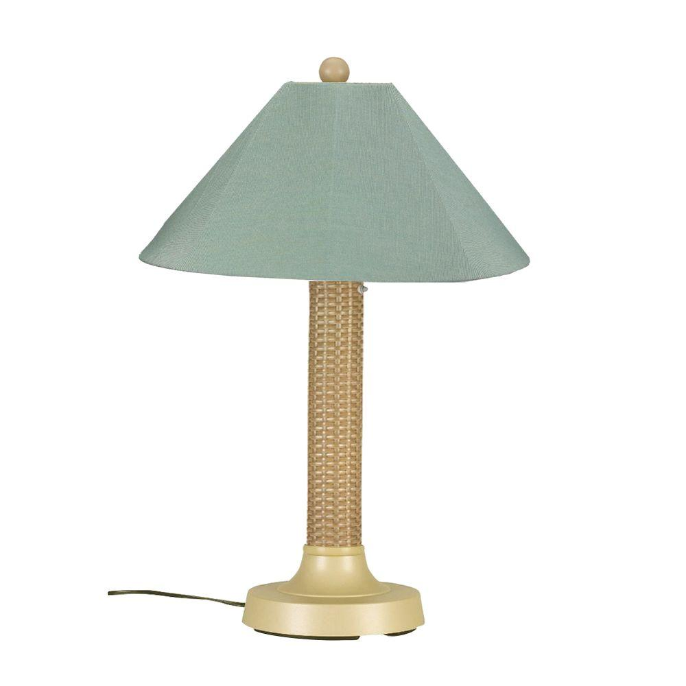 Patio Living Concepts Bahama Weave 34 in. Mojavi Outdoor Table Lamp with Spa Shade