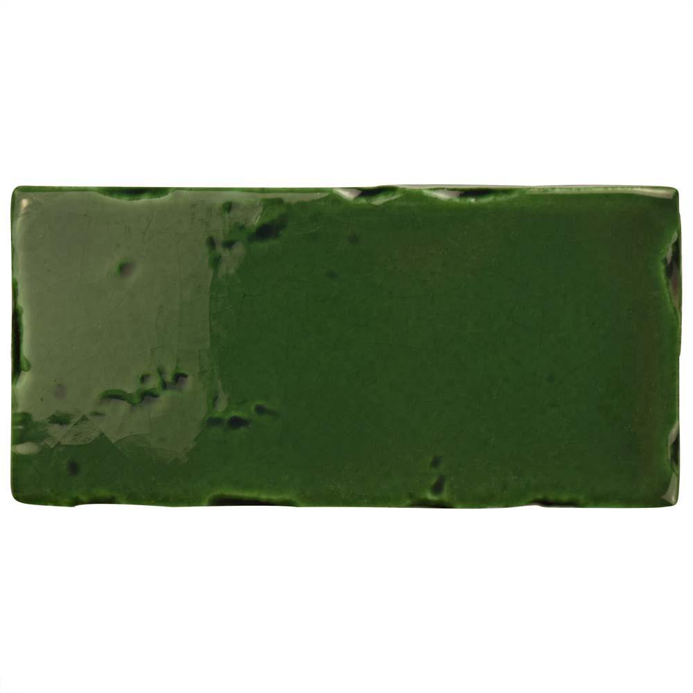 Novecento Subway Verdin 2-1/2 in. x 5-1/8 in. Ceramic Wall Tile (6.16 sq. ft. / case)
