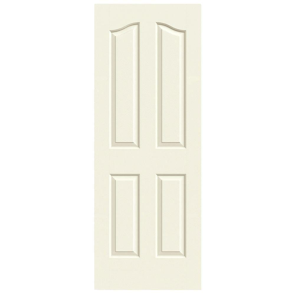 24 in. x 80 in. Provincial Vanilla Painted Textured Molded Composite
