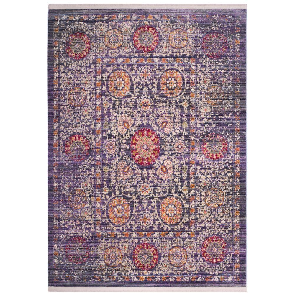 Sutton Lavender/Ivory 5 ft. x 7 ft. Area Rug