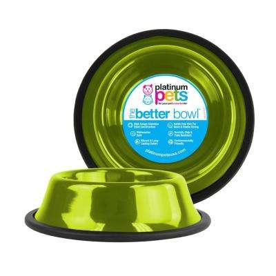 6.25 Cup Non-Tip Stainless Steel Dog Bowl, Corona Lime
