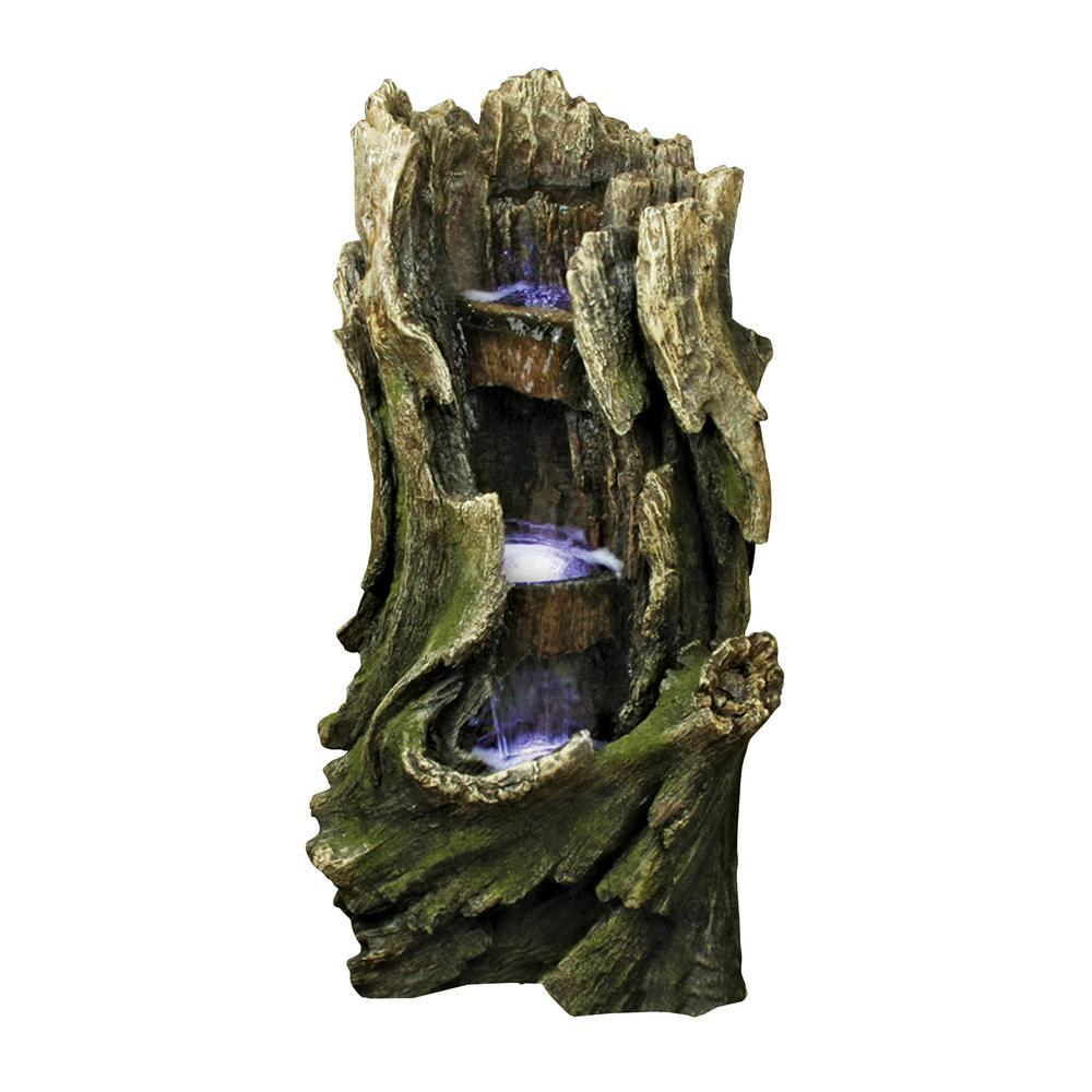 Design Toscano Cascading Creek Stone Bonded Resin Garden Fountain