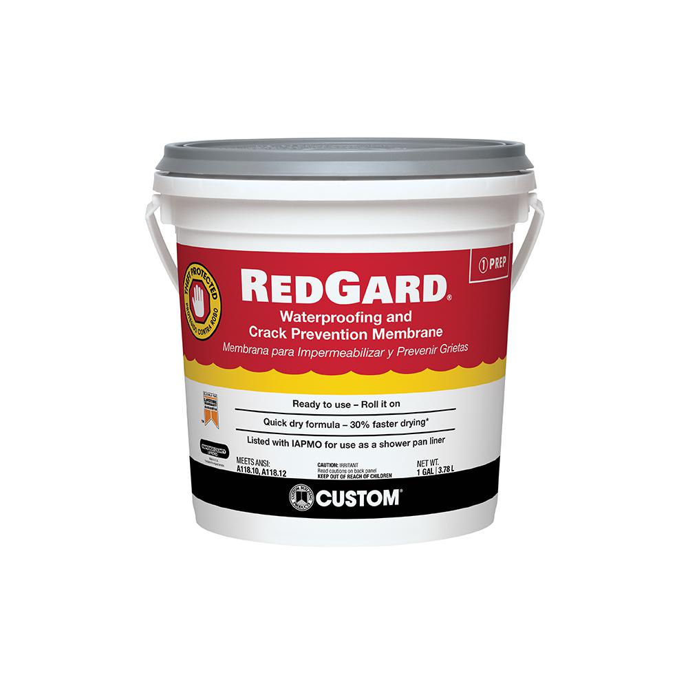 Custom Building Products RedGard 1 Gal. Waterproofing and Crack Prevention Membrane