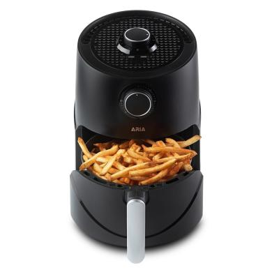 3 Qt. Teflon-Free Premium Ceramic Black Air Fryer with Extended Recipe Book including Favorite Meals and Vegan and Keto
