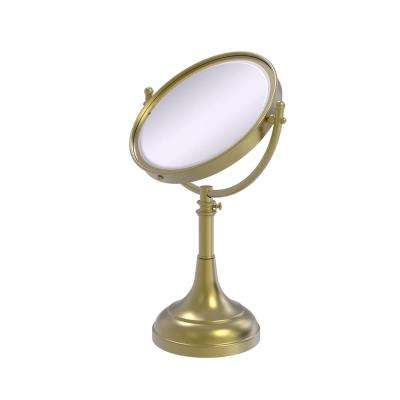 23 in. x 8 in. Vanity Top Make-Up Mirror 3x Magnification in Satin Brass