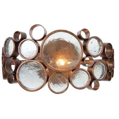 Fascination 1-Light Hammered Ore Vanity Light