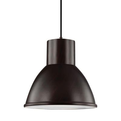 Division Street 15 in. W 1-Light Burnt Sienna Indoor Pendant