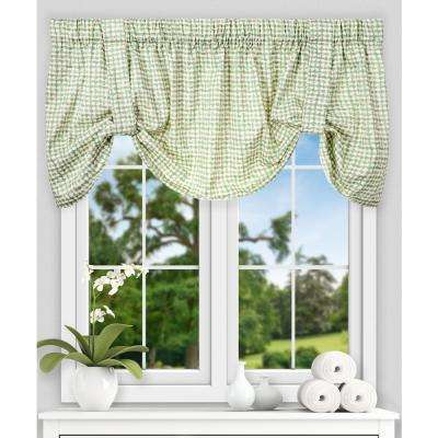 Davins 22 in. L Cotton Tie-up Valance in Spa