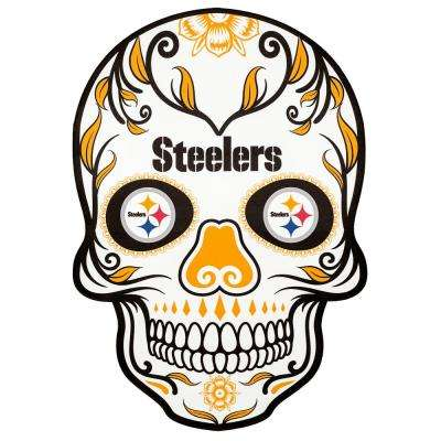 NFL Pittsburgh Steelers Outdoor Skull Graphic- Small