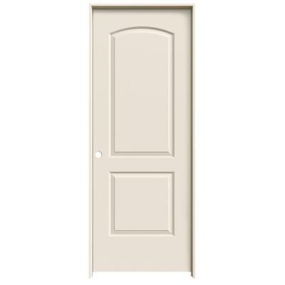 28 in. x 80 in. Continental Primed Right-Hand Smooth Solid Core Molded Composite MDF Single Prehung Interior Door